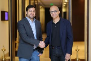 Binny Bansal and Satya Nadella