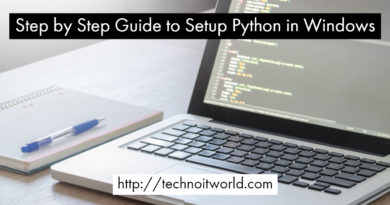 Step by Step Guide to Setup Python in Windows