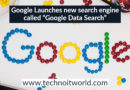 "Google's new search engine ""Google Data Search"""
